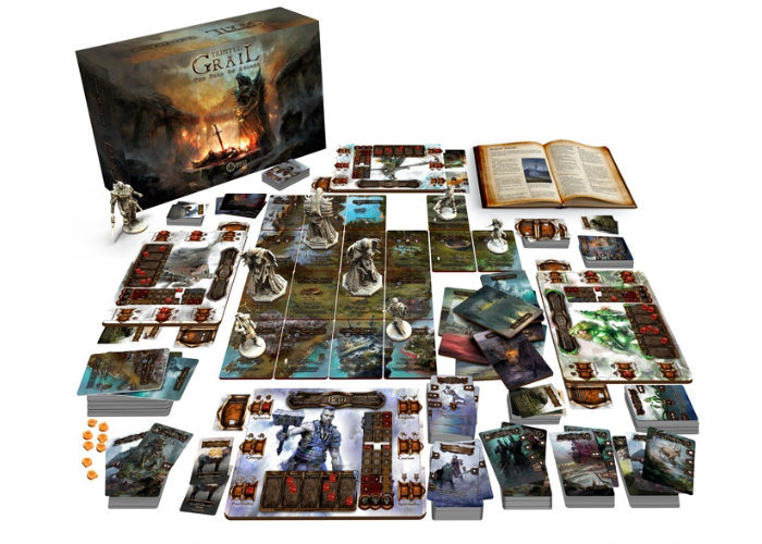 Tainted Grail survival, adventure, co-op board game