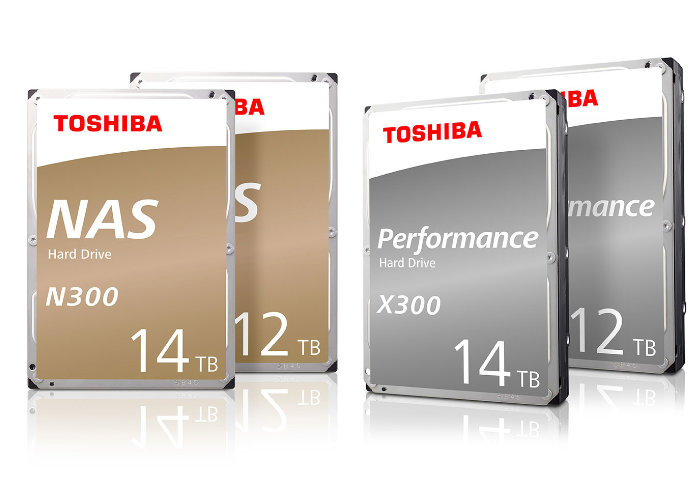 Toshiba 12TB and 14TB N300 and X300 hard drives introduced