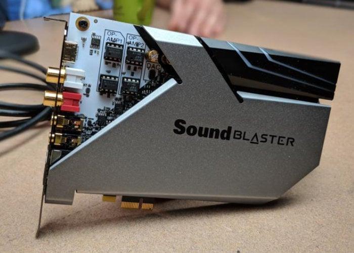 Creative Sound BlasterX AE-9 Audiophile sound card under development