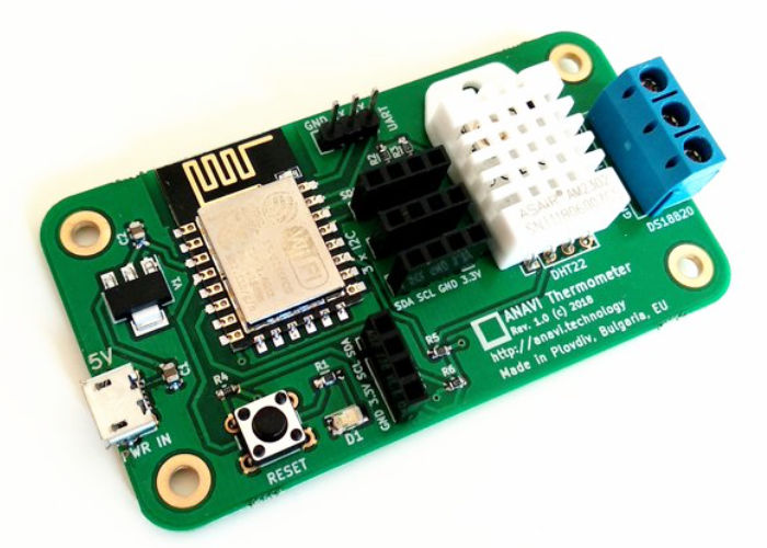 ANAVI Thermometer open source temp and humidity sensor board
