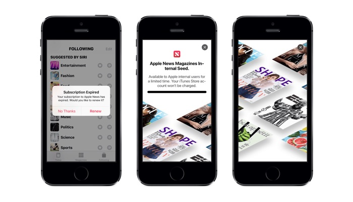 Apple magazine subscriptions