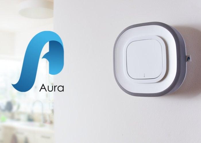 Aura Air pollutant detector and air filter