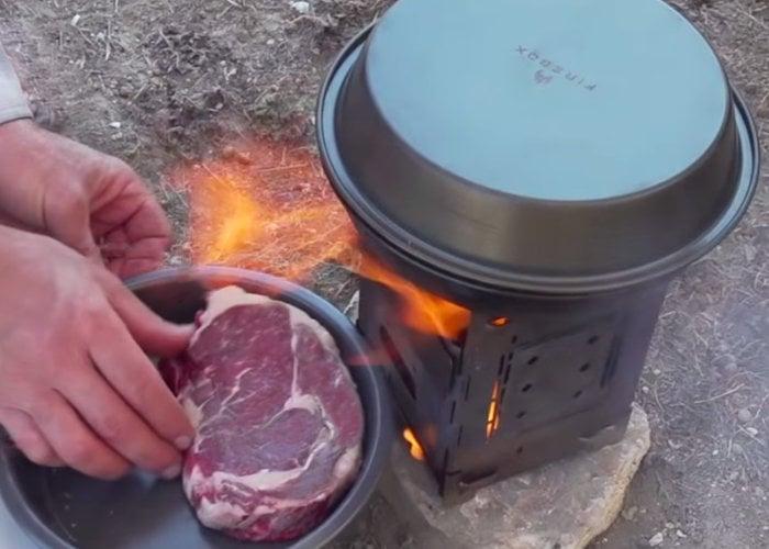 Firebox camping cook kit
