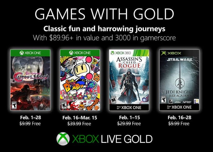 Free Xbox games with Gold