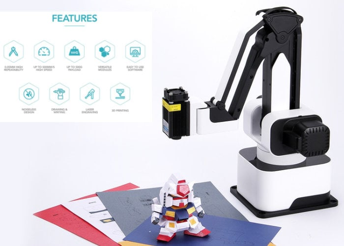 Hexbot desktop robot arm