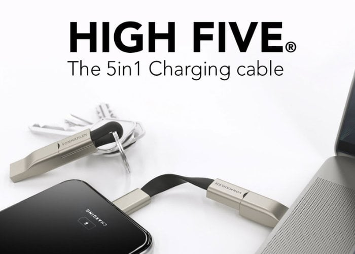 High Five 5in1 keyring charging cable