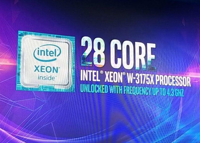 Intel Xeon W-3175X 28-core processor