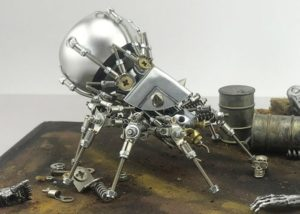 Mechanical Spider Bluetooth speaker inspired by Ghost Recon