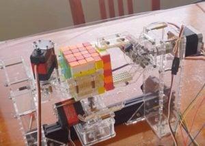 MicroPython 5x5x5 Rubik Cube solving robot