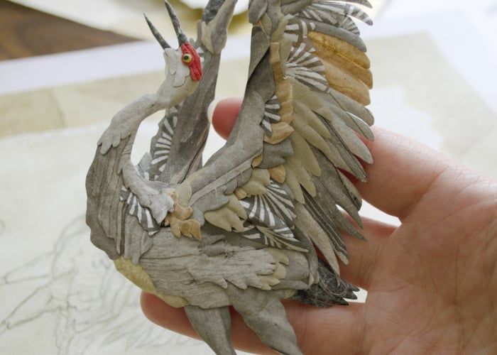 Amazing paper sculptures created from moulded paper