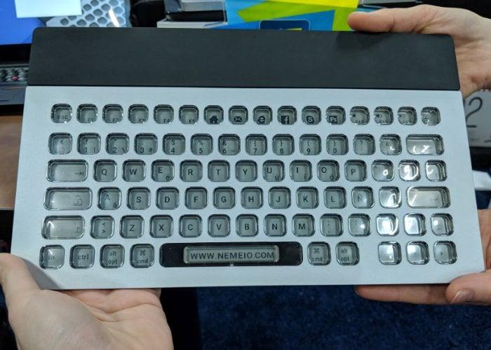 Nemeio ePaper key customisable keyboard