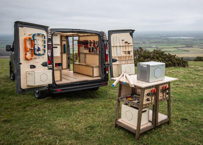 Nissan NV300 full kitted maker van and mobile workshop concept