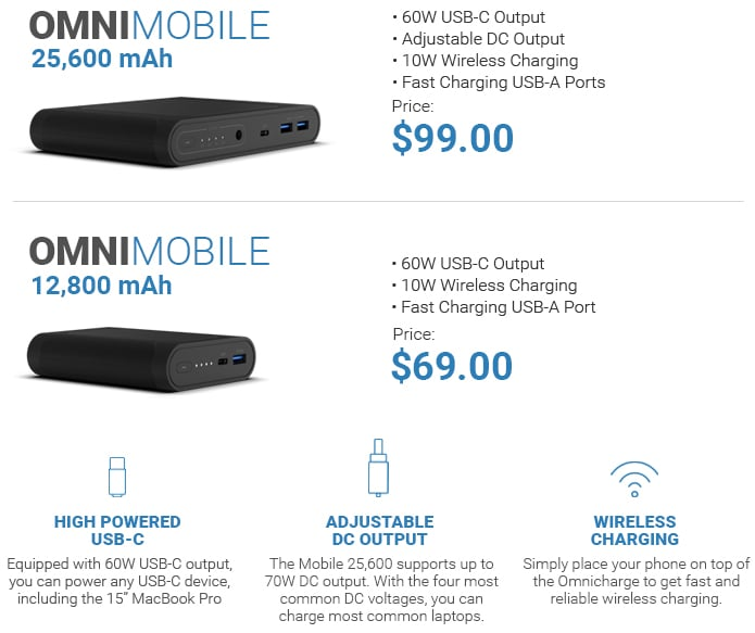 Omnicharge Omni Mobile Series