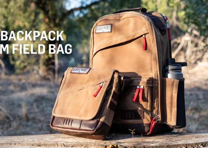 Ranger backpack and Roam Field canvas and leather bags