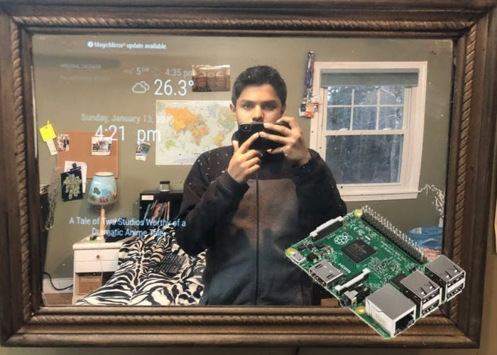 Raspberry Pi smart mirror