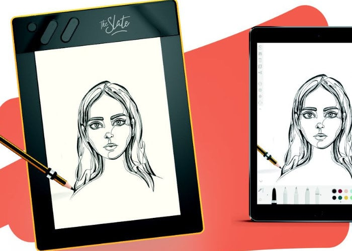 Slate Repaper digitises paper drawings as you sketch