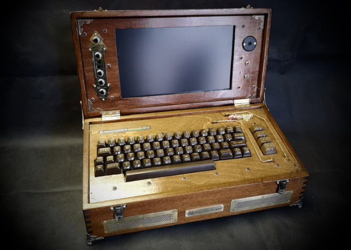 Steampunk Commodore 64 laptop by Bad Dog Designs