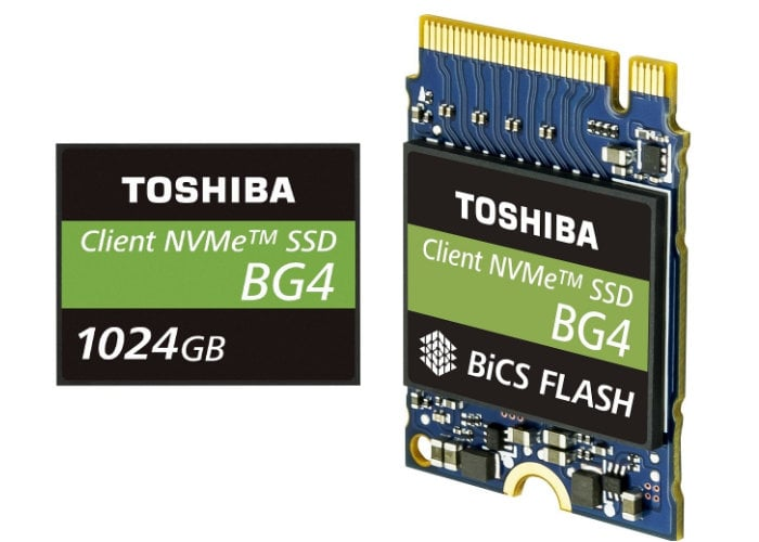 Toshiba 1TB Single Package PCIe Gen3 x4 SSD