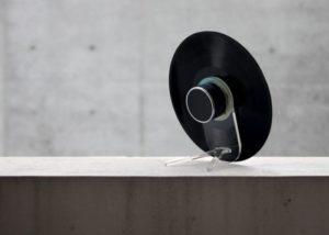Upcycled vinyl record bluetooth speaker