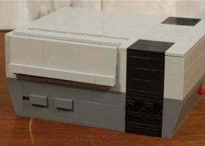 Working NES games console built from LEGO