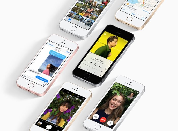 The handset comes with the latest version of Apple's mobile OS, iOS 9.3 and it features a 4 inch display with a resolution of 1136 x 640 pixels. Processing is provided by an Apple A9 processor and it also comes with 2GB of RAM and a choice of either 16GB or 64GB of built in storage. The handset features the same cameras as the iPhone 6S, these include a 12 megapixel rear camera which can record 4k Ultra HD video and a 1.2 megapixel FaceTime HD camera on the front. There is also a 1642 mAh battery and support for Apple Pay.
