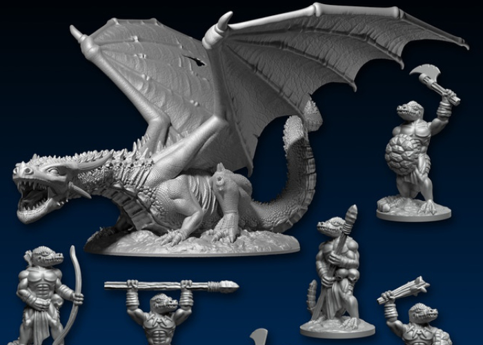 photograph about Printable Miniatures titled 3D printable miniatures by means of DragonLock - Geeky Units