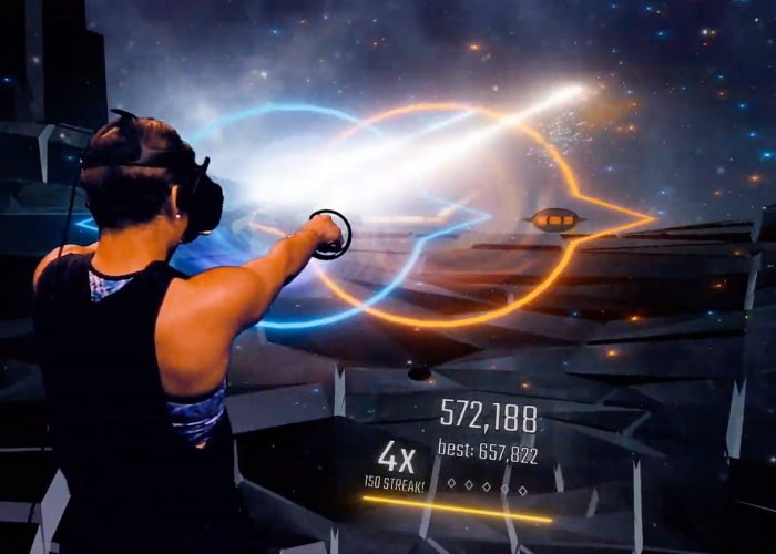 Audica mixed reality rhythmic shooter