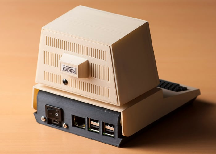 Awesome Commodore PET Mini Raspberry Pi case