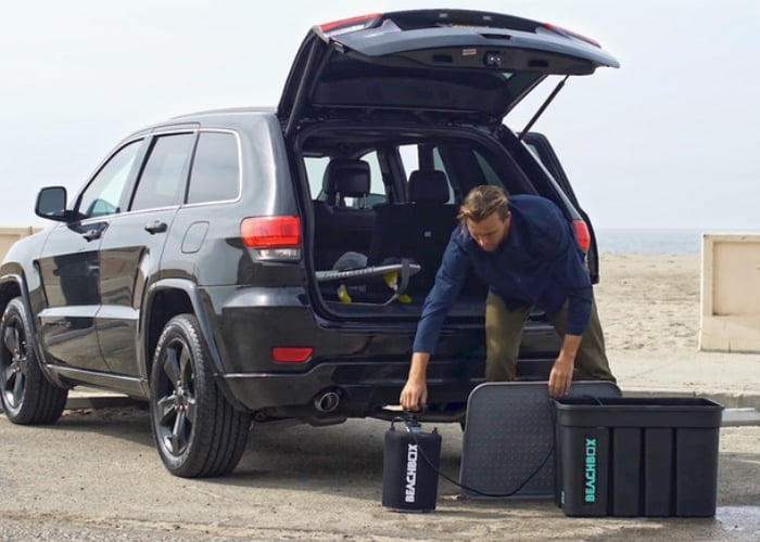 BeachBox portable shower, wetsuit storage and more
