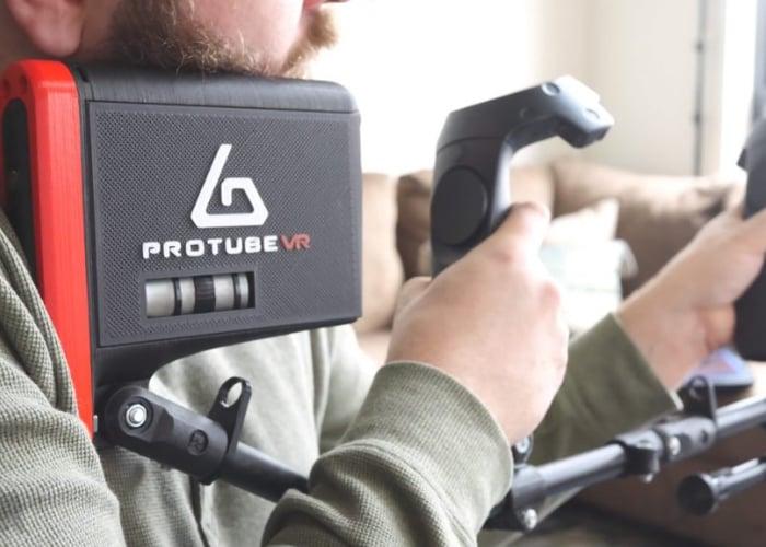 ForceTube haptic feedback VR gun controller grip