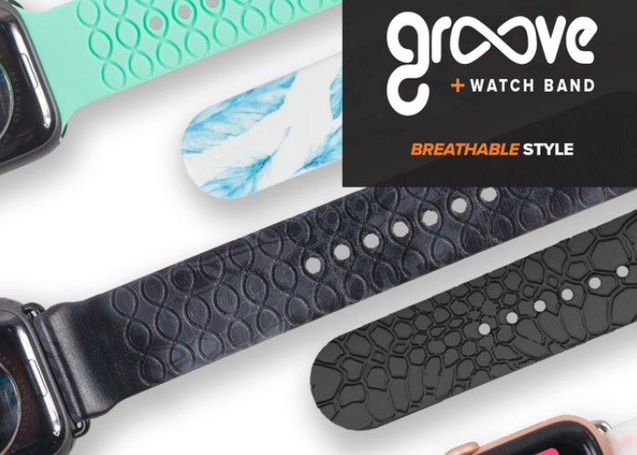 Groove breathable Apple Watch bands