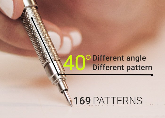INKI drawing pen can create over 165 different patterns from one nib