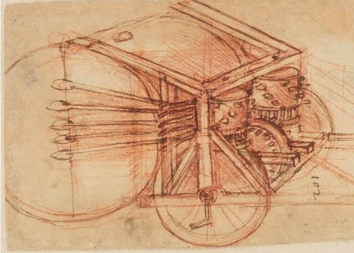 LEGO Drum Machine Inspired By Leonardo Da Vinci's Tamburo Meccanico