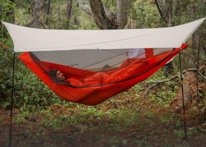 Ultralightweight Mantis hammock tent hits Kickstarter