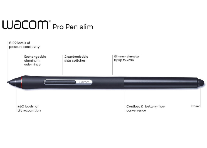 New Wacom Pro Pen Slim ergonomic digital stylus