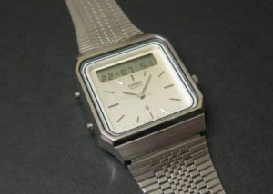 Retro Casio AT-550 touchscreen calculator watch