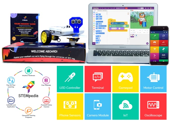 STEMpedia creator lab teaches kids electronics, code and robotics