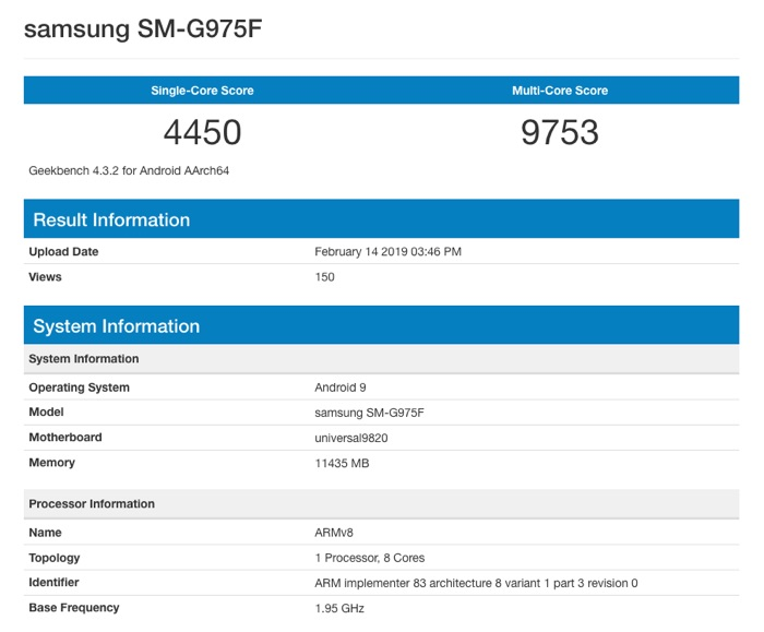 Limited Edition Samsung Galaxy S10+ gets benchmarked