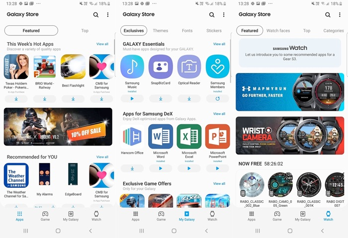 Samsung Galaxy Apps rebranded as Galaxy Store