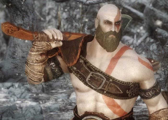 Skyrim God of War mod lets you play as Kratos