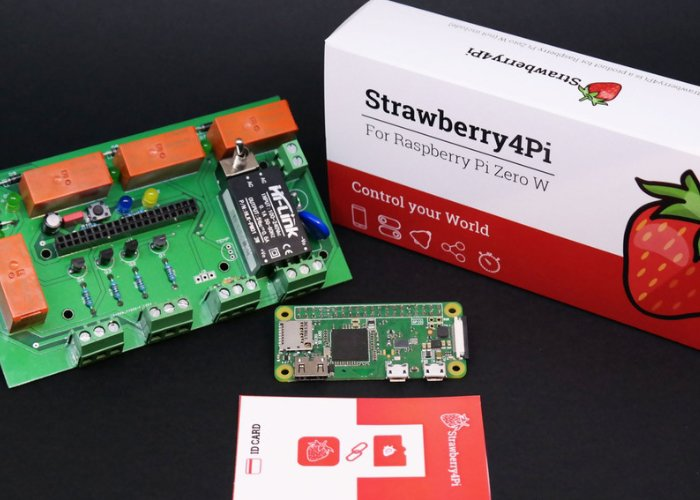 Strawberry4Pi Internet of Things control system