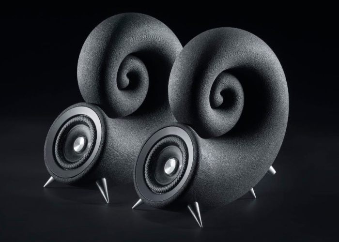 Unique sound system 3D printed from sand