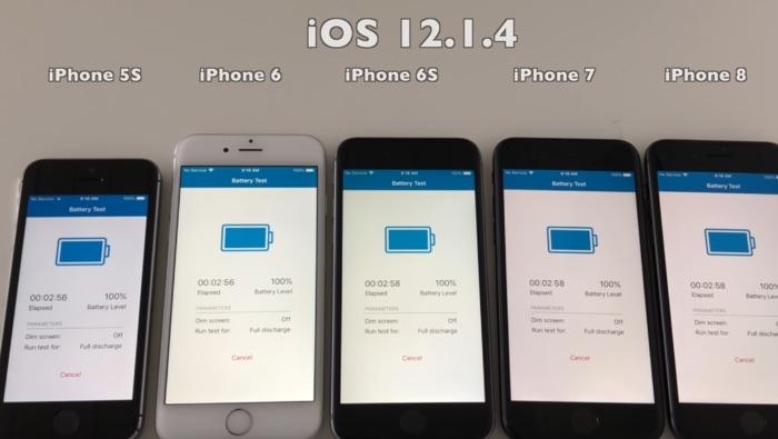 iOS 12.1.4 battery life