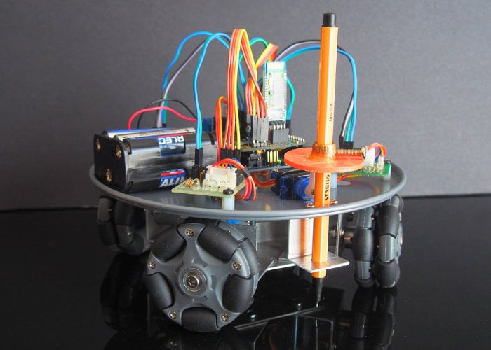 Arduino omni-wheel robot and pen plotter