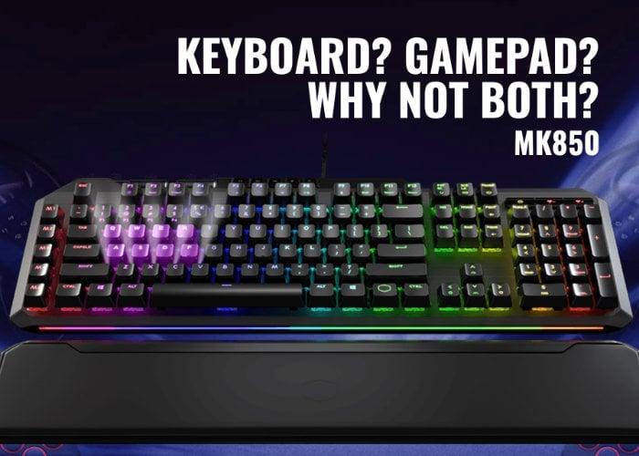 Cooler Master MK850 gaming keyboard with Aimpad