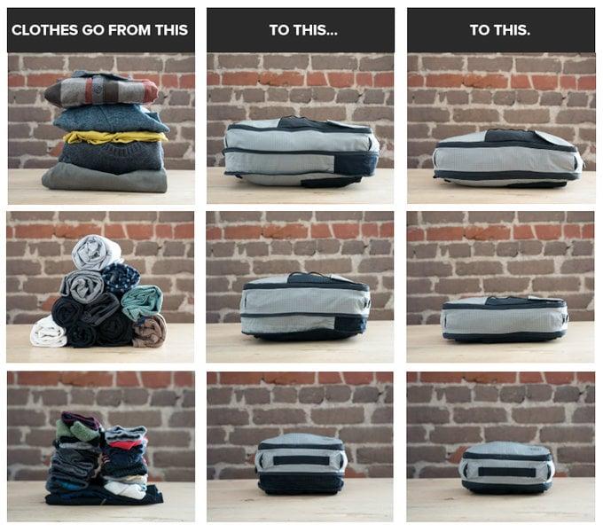 Cubepack luggage compression