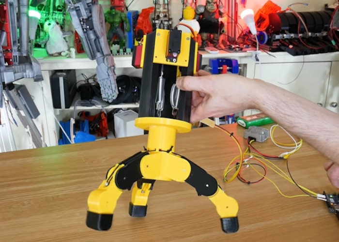 DIY force-controlled gripper robot arm