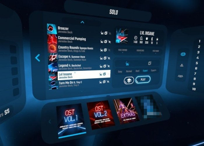 First Beat Saber music pack