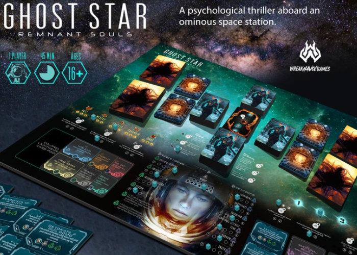 Ghost Star sci-fi horror solo board game