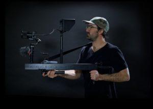 GimbalGun handheld photographic mounting rail and gimbal support